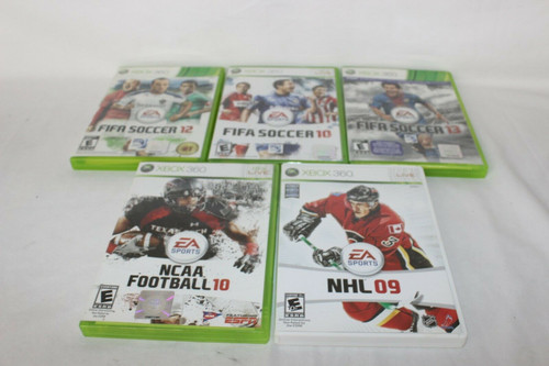 Lot Of 5 EA Sports, XBOX 360 Games