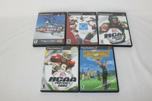 Lot of 5 PS2 Games Assorted Sports