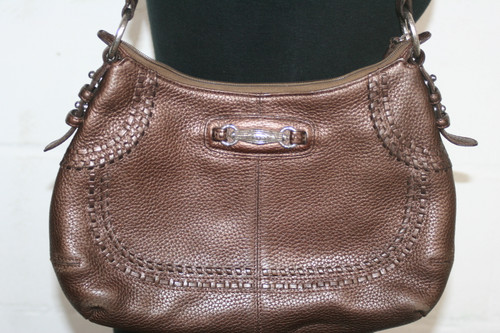 Pre-Owned Brighton D555427 Bronze Purse