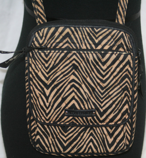 Pre-Owned Vera Bradley Little Hipster Zebras Crossbody
