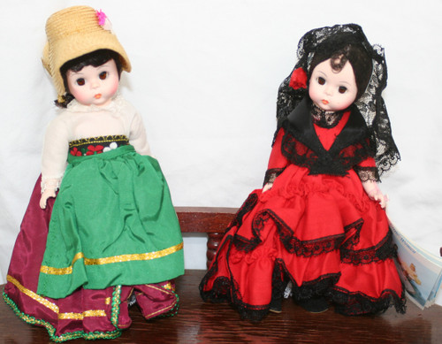 Pre-Owned 2 Madame Alexander Little Women Dolls Italy & Spain