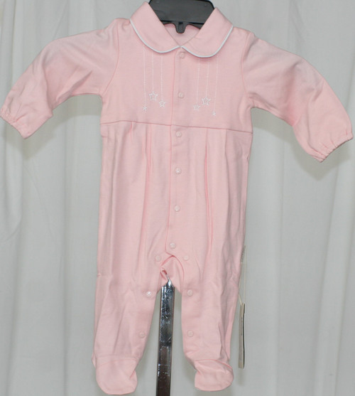 NWT Pure Born Snap Front Long Sleeved Footed Outfit 3-6 Mth.