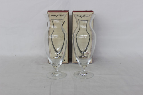"""Lot of 2 Marfleur Cristallerie Vases Made In Germany 8.25"""""""