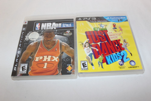 2 Play Station 3 Games, NBA 08 & Just Dance kids 2
