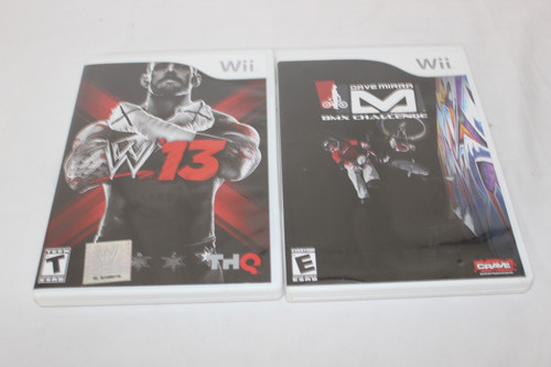 Preowned 1 Wii Games W'13 & Dave Mirra BMX Challenge W/Manuals