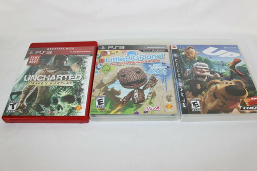 Preowned 3 PS3 Games, Up, Little Big Planet, Uncharted