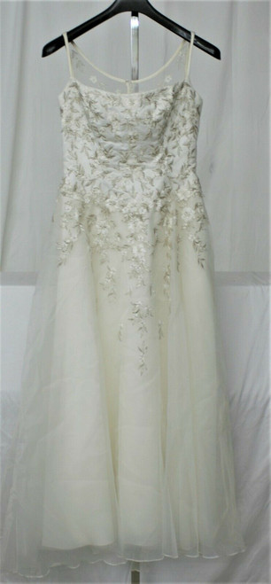 Pre-Owned Women's Unbranded Cream Wedding Dress Sz. See Measurements
