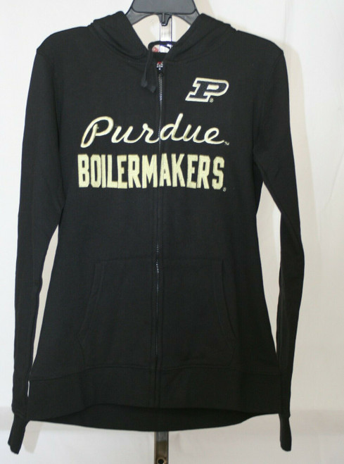 NWT Youth Size Cover One Apparel Purdue Full Zip Front Black Jacket Sz. L Youth