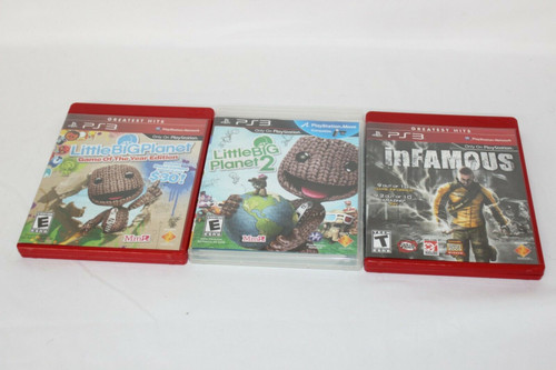 Preowned 3 PS3 Games Little Big Planet 1 & 2, Infamous