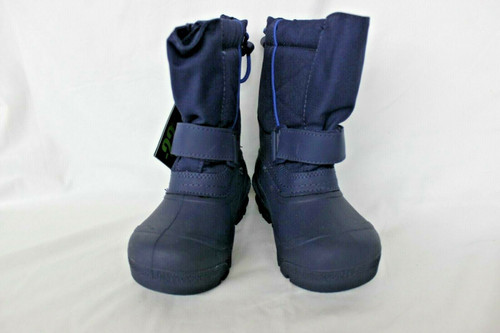 New Tundra Kids Quebec Wide Winter Navy Boots Size US 8