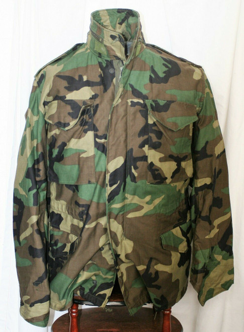 Pre-Owned Military Cold Weather Field Camo Coat Sz. Small Regular