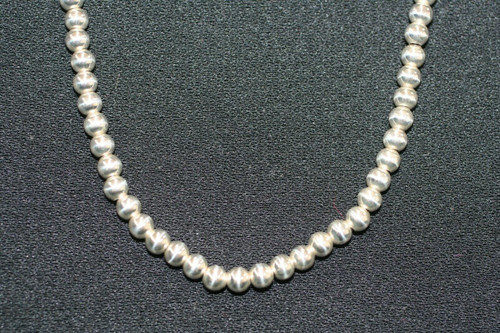 """Pre-Owned 925 Unbranded Sterling Silver Ball Beads Necklace 20"""""""