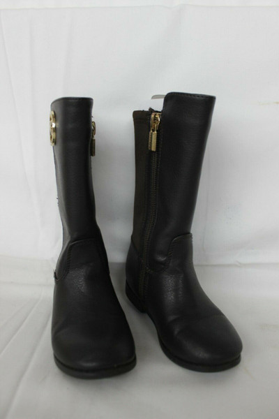 Pre Owned Michael Kors Little Girls Boots Size 7 Dark Brown Grainy