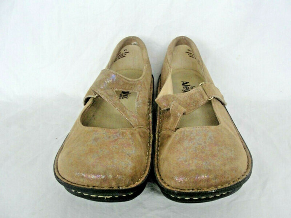 Alegria DAY 684 Leather Size 41 US 10.5-11 Cross Strap Hook & loop Closure
