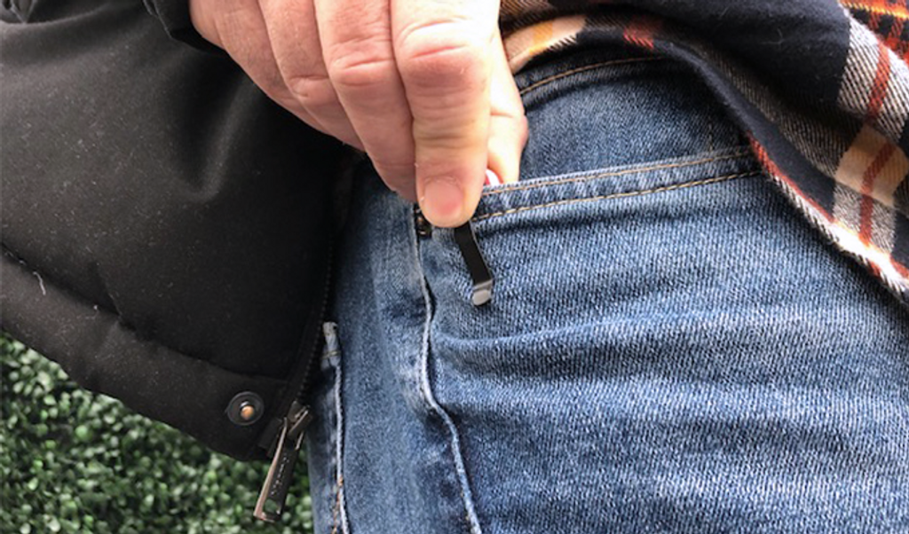 Reversible, deep-carry pocket clip