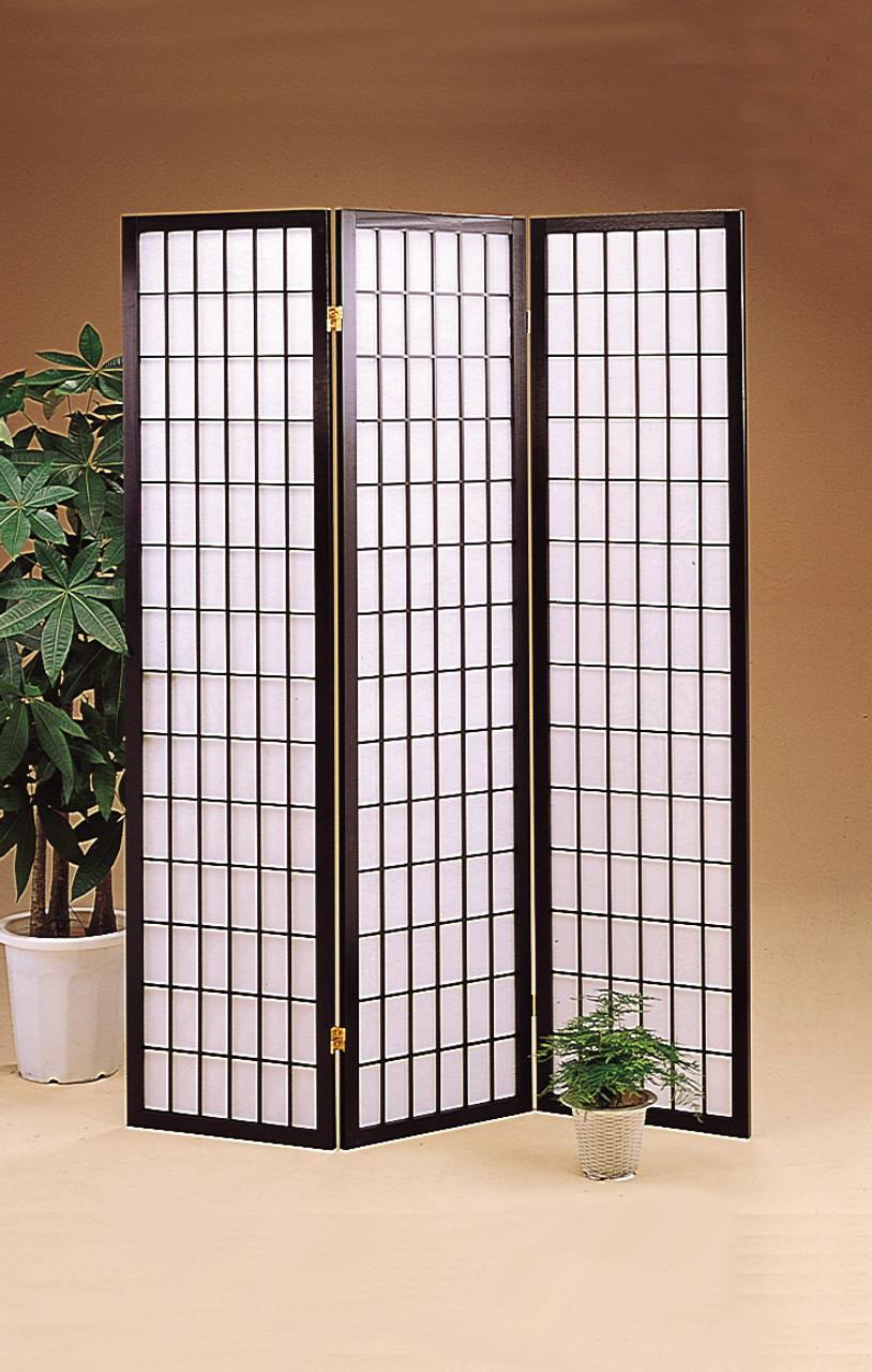 Japanese Black Room Divider Coaster Fine Furniture