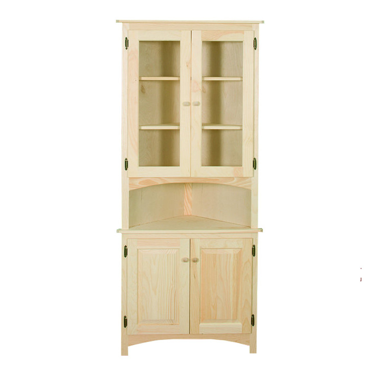 Corner Cabinet With Raised Panel And Glass Doors Gothic