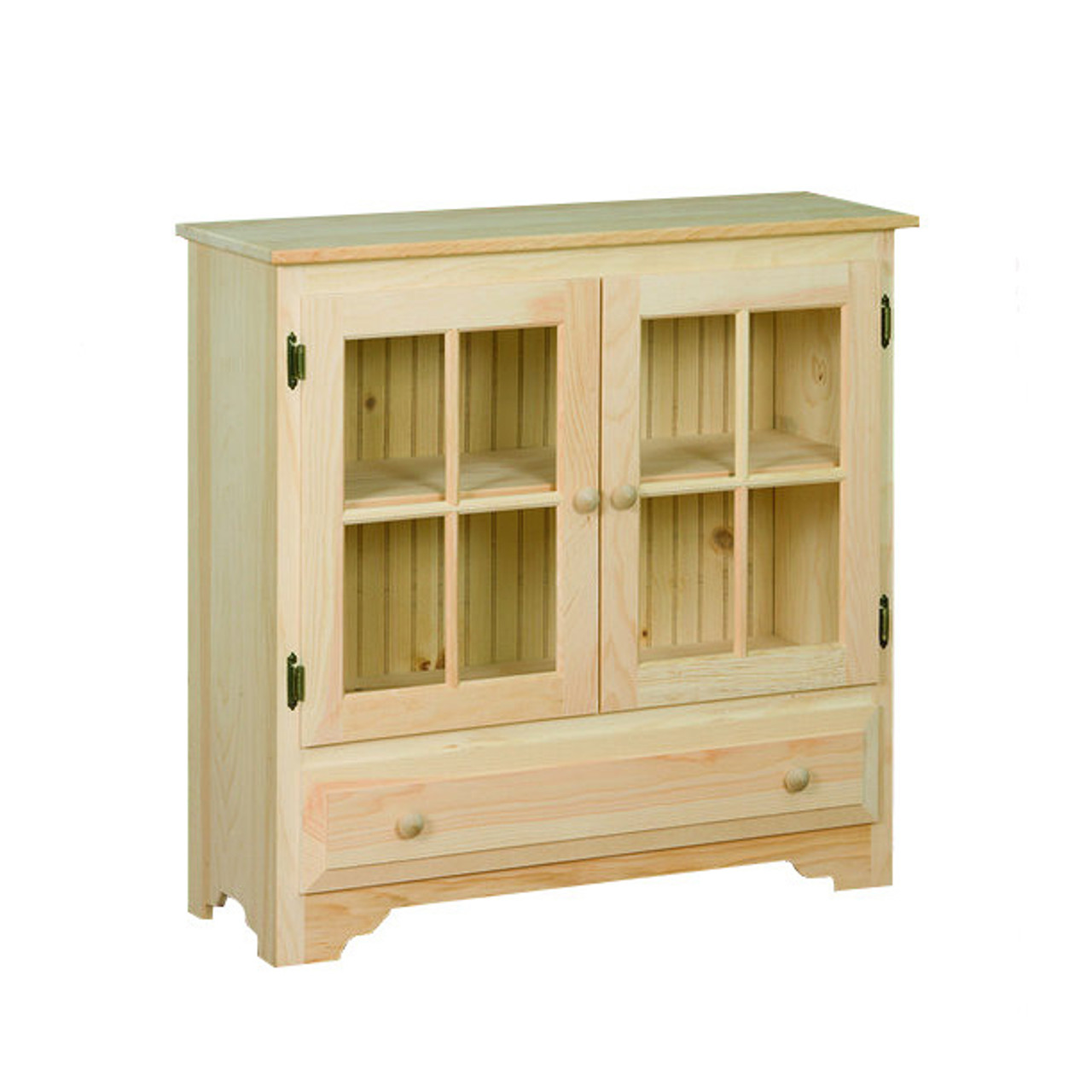 Rosedale One Drawer Two Door Pantry Cabinet 13 X 36 X 35 Pine