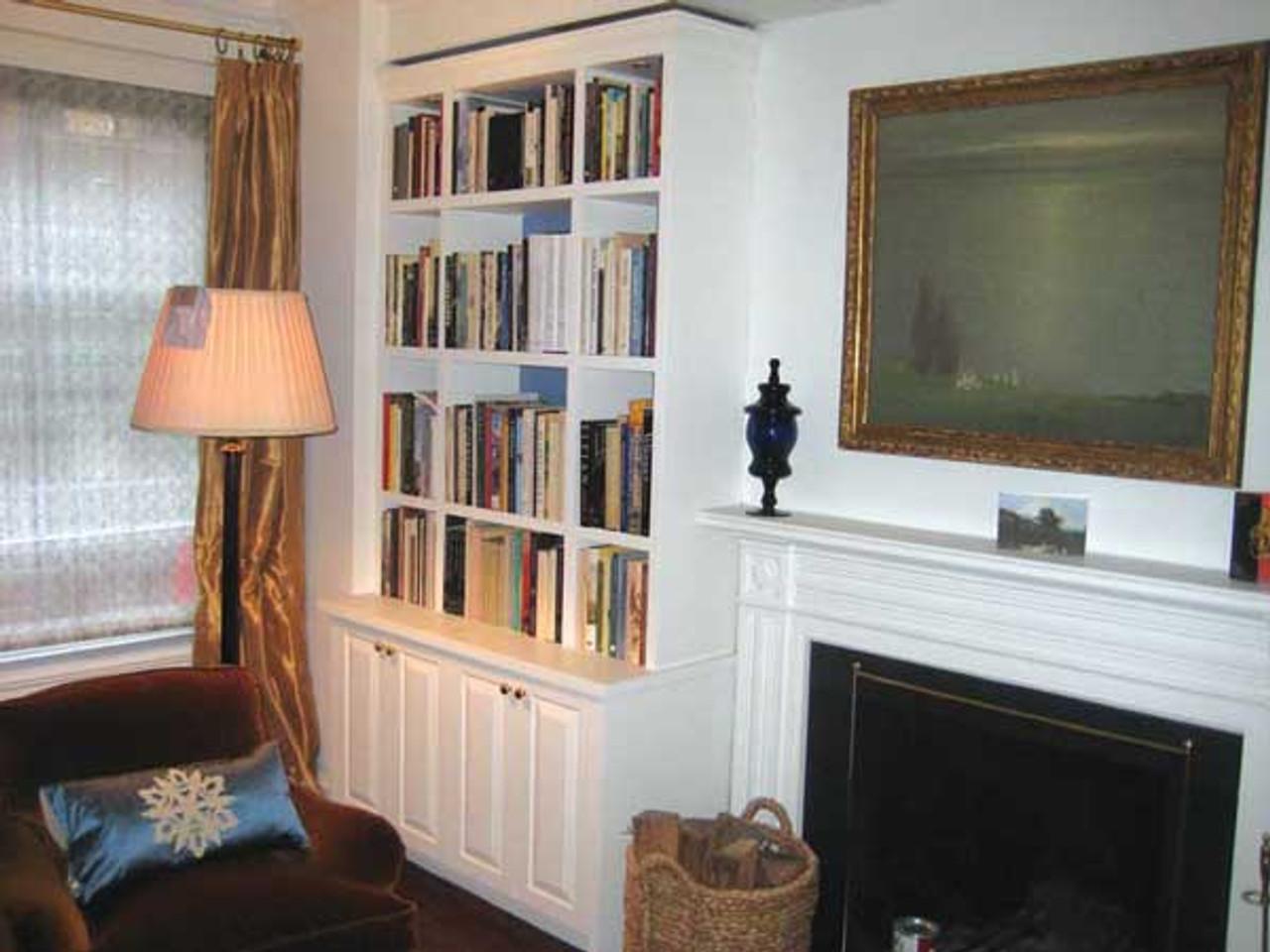 Custom   Built In Bookshelf Wall Unit