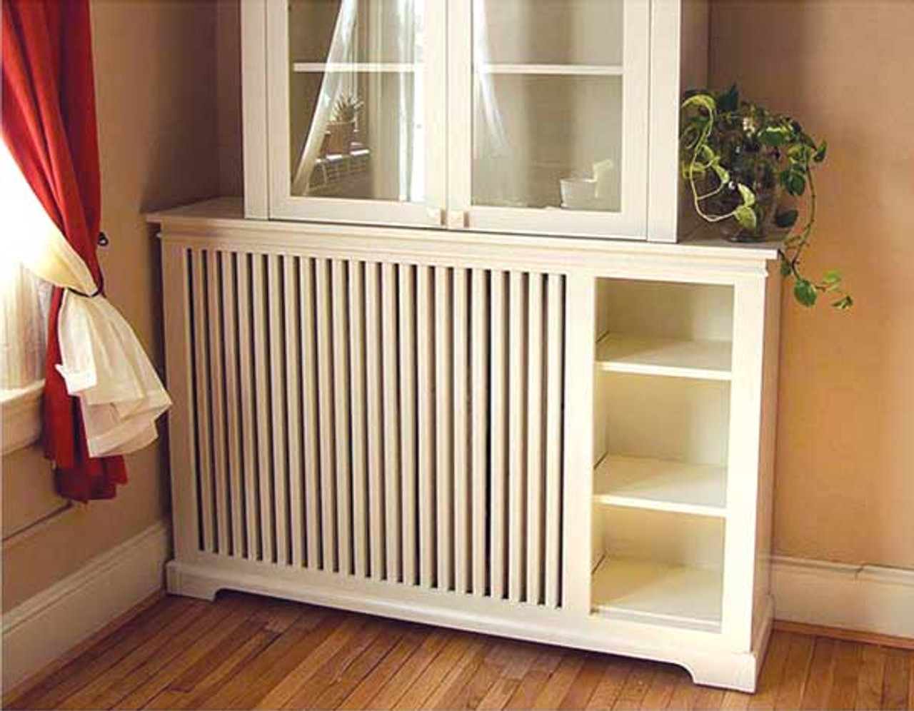 Custom Radiator Cover With Shelving Gothic Furniture