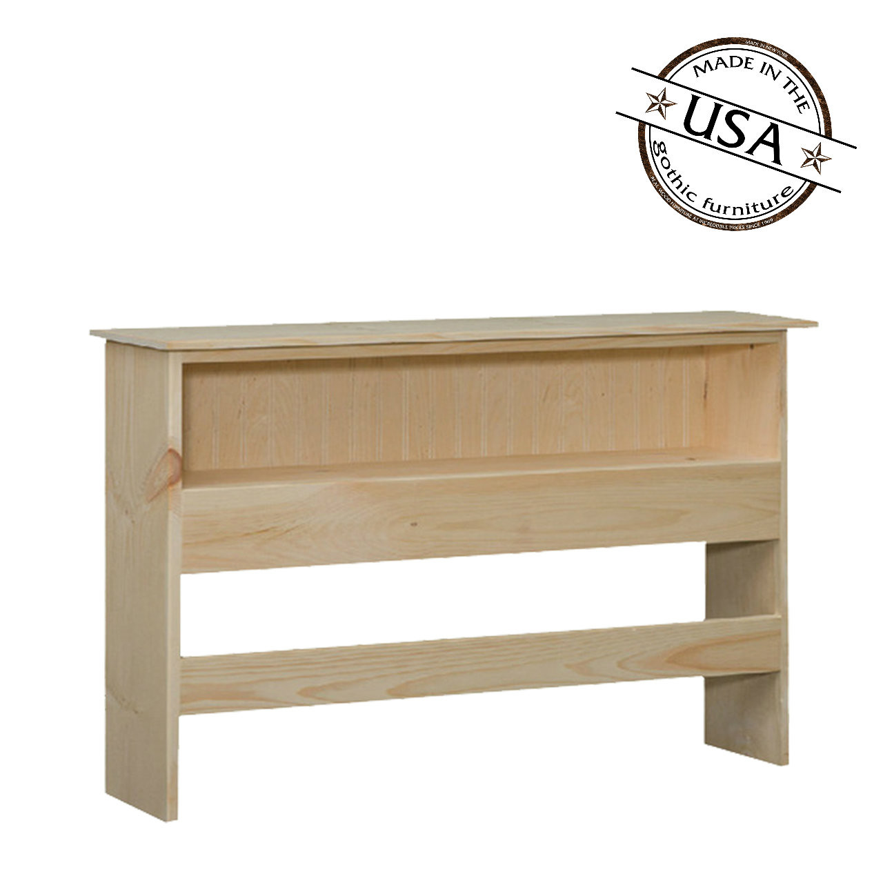 Queen Bookcase Headboard 48 High In Pine
