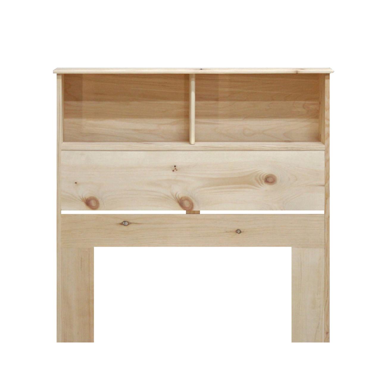 Twin Bookcase Headboard 36 High In Pine Gothic Furniture