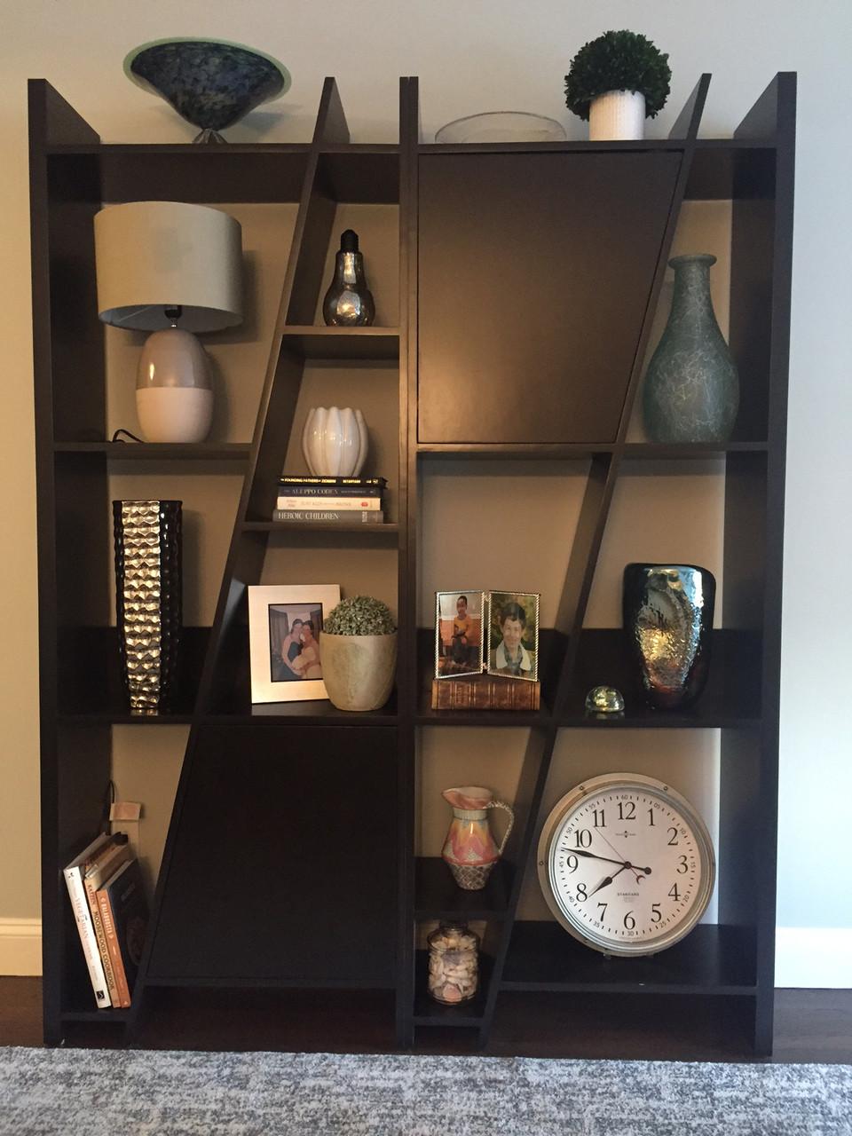 Custom modern bookcase