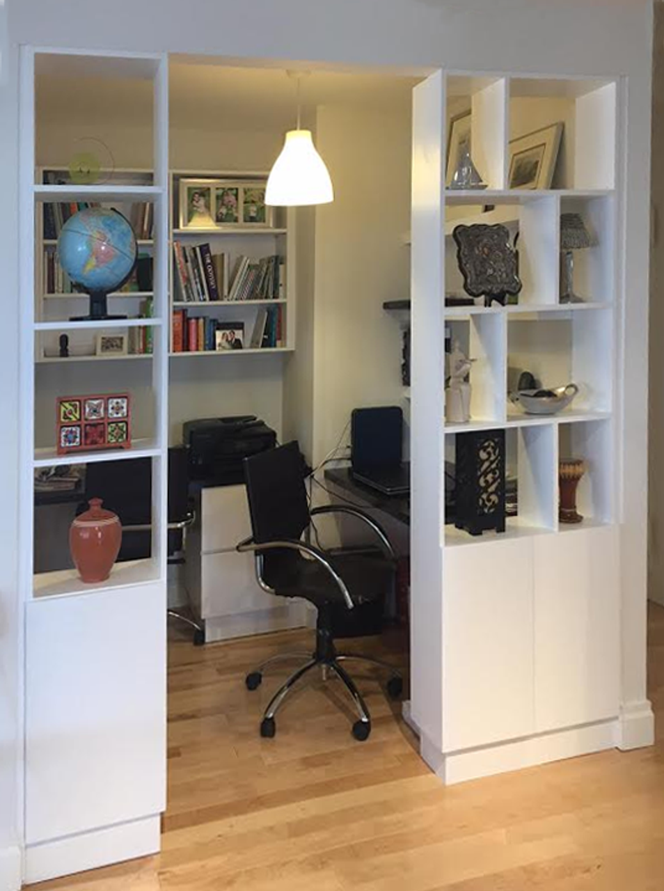 CUSTOM  Built In Home Office Wall Unit