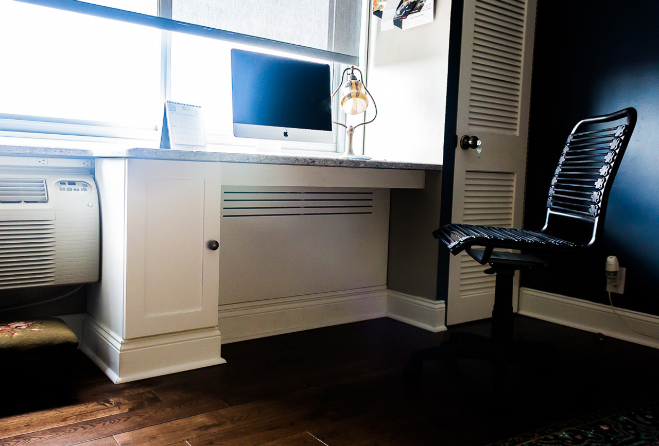 Custom Built In Desk With Radiator Cover Gothic Furniture