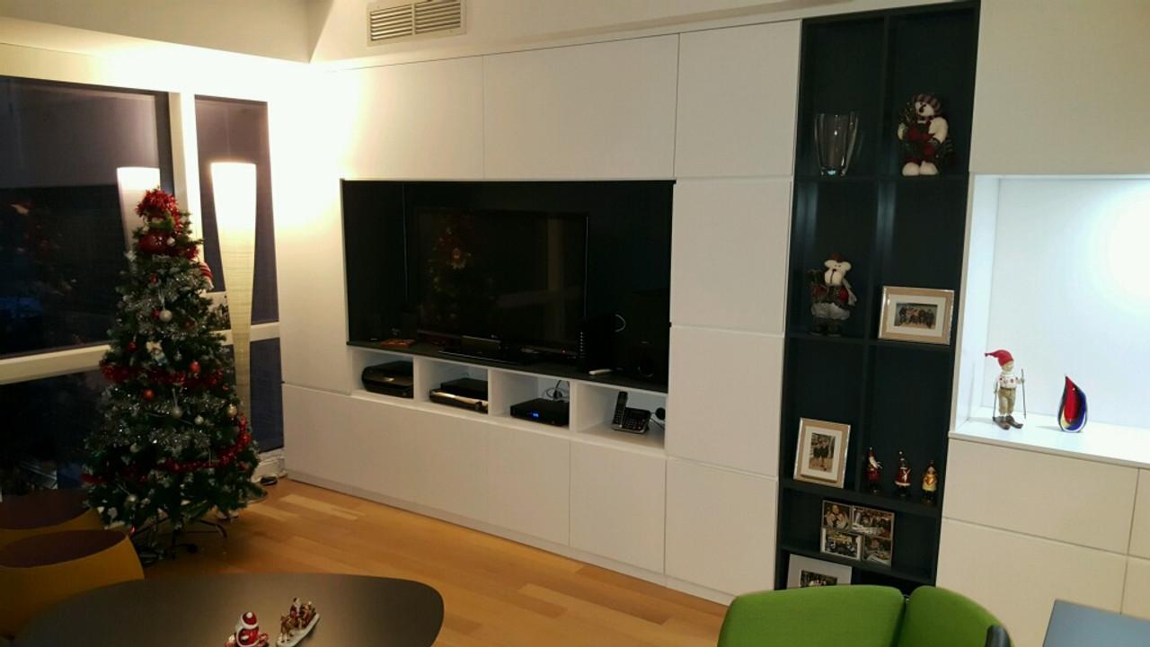 6afaa2e69f4 Built In Entertainment Center in White