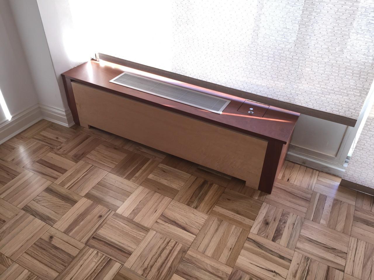Custom Under Window Two Tone Radiator Cover Gothic Furniture
