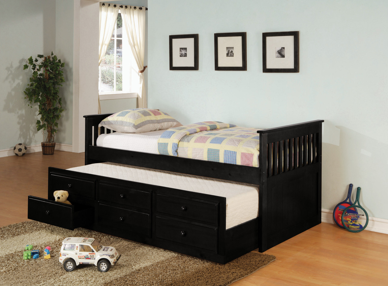 - Marcos Twin Daybed With Trundle Black