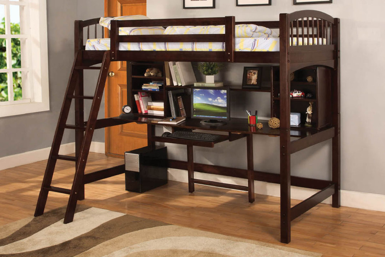 Twin Loft Bed With Workstation Furniture Of America