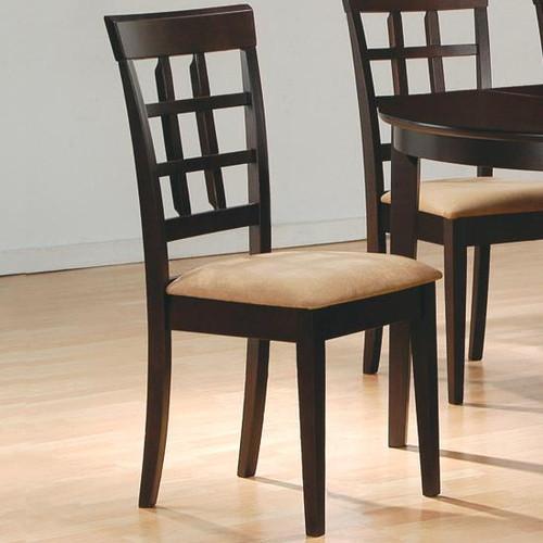 Cappuccino Wheat Back Chair | Pair