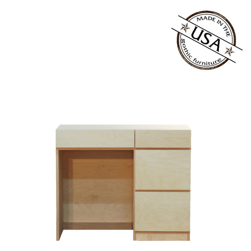 Mid Century Modern Desk with 4 Drawers