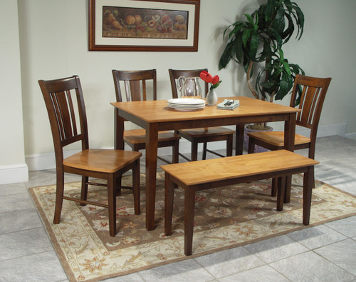 Table With 4 Chairs Set, BENCH SOLD SEPARATELY.