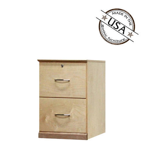 Flat Iron File Cabinet With 2 Drawers