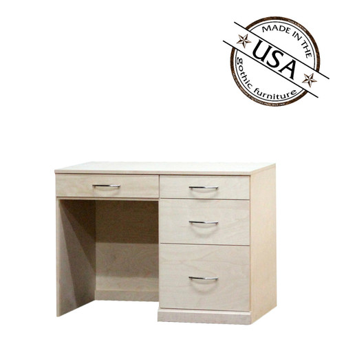 Flat Iron Desk with 4 Drawers