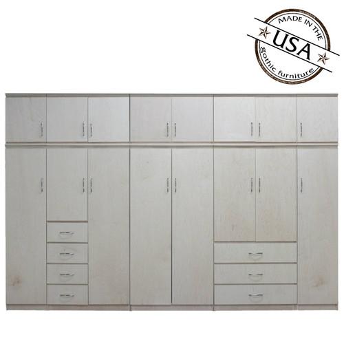 Flat Iron 10 Piece Closet System