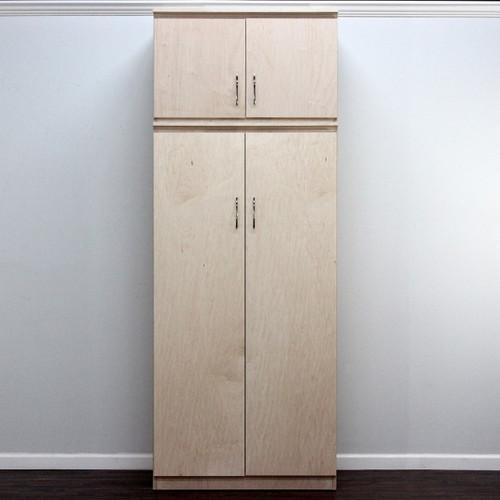 Flat Iron Wardrobe, With Storage Top
