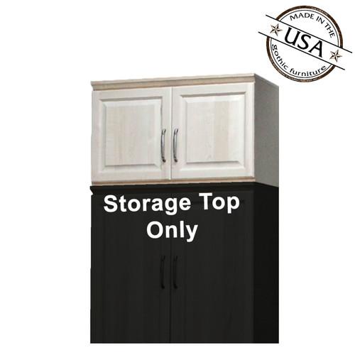 "Raised Panel Storage Top w/  Doors, 24""Deep"