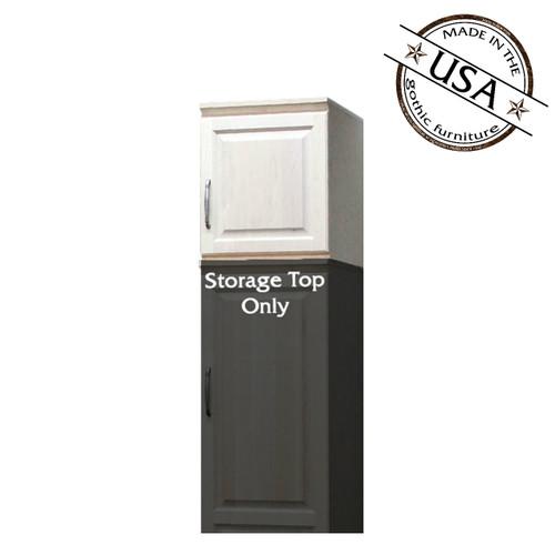 Raised Panel Storage Top w/  1 Door (Opens Right to Left)