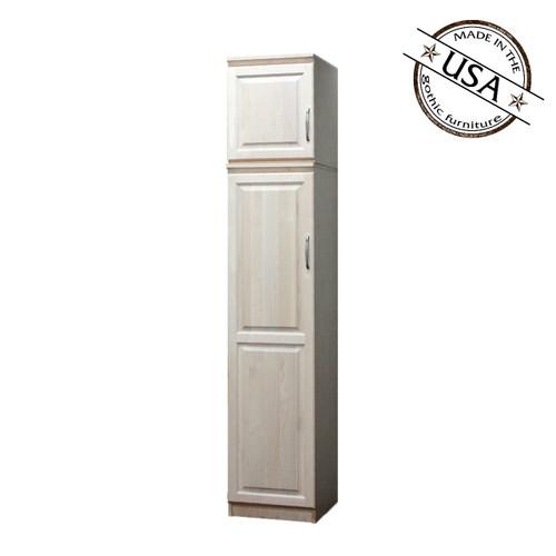Raised Panel Closet, w/ Storage Top (Opens Right To Left)