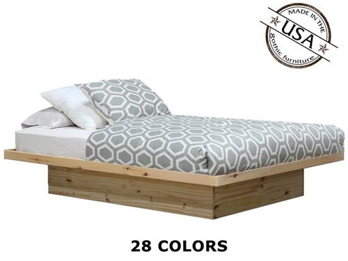 Queen Platform Bed in Pine