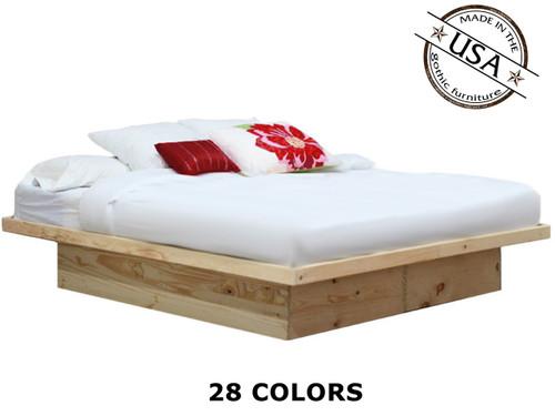 King Platform Bed | Pine Wood