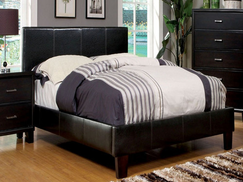Padded Leatherette Bed (Multiple Sizes)