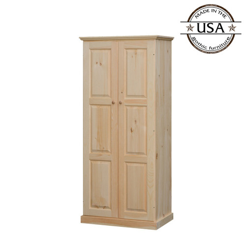 Two Door Raised Panel Wardrobe