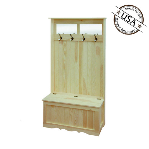 Double Hall Tree Bench With Storage