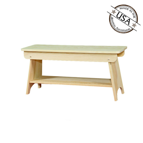 "Bench With Shelf 48"" Wide"