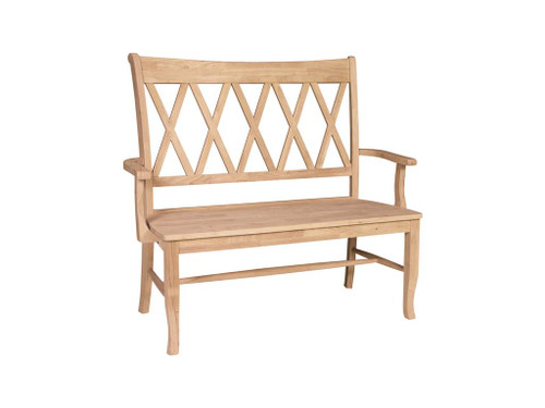Cross-Back Seating Bench